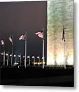Washington Monument At Night Metal Print by Artistic Photos