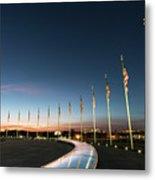 Washington Monument Flags Metal Print