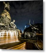 Washington Monument Fountain Metal Print