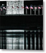 Washington Monument Reflections Metal Print