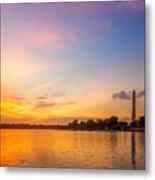 Washington Monument Sunset Metal Print