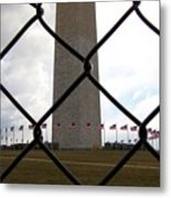 Washington Monument Through Fence Metal Print