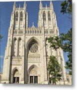 Washington National Cathedral Front Exterior Metal Print