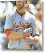 Washington Nationals Bryce Harper Metal Print