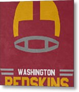 Washington Redskins Vintage Art Metal Print