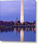 Washington Refelection Metal Print