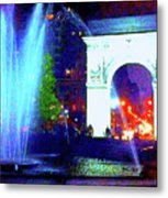 Washington Square Fountain 13c Metal Print