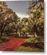 Washington Square In Mobile Alabama Painted Metal Print