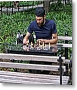 Washington Square Park Chess Man Metal Print