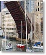 Washington Street Bridge Lift Chicago Metal Print
