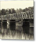 Washington's Crossing Bridge On A Rainy Day Metal Print