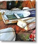 Wat-0012 Tender Boats Metal Print