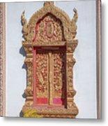 Wat Buppharam Phra Wihan Window Dthcm1581 Metal Print