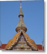 Wat Chaimongkron Phra Wihan Gable And Spire Dthcb0090 Metal Print