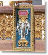 Wat Chedi Mae Krua Wihan Veranda Rail Decorations Dthcm1847 Metal Print