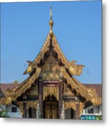 Wat Jed Yod Gable Of The Vihara Of The 700 Years Image Dthcm0963 Metal Print