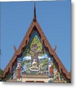 Wat Pho Samphan Phra Ubosot Gable Dthcb0066 Metal Print