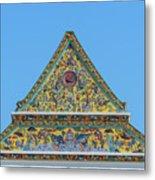 Wat Ratcha Orasaram Phra Wihan Gable Dthb0862 Metal Print