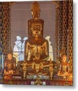 Wat Suan Dok Wihan Luang Buddha Images Dthcm0952 Metal Print