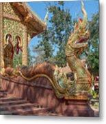 Wat Suan Prig Phra Wihan Makara And Naga Guardian Dthcm2395 Metal Print
