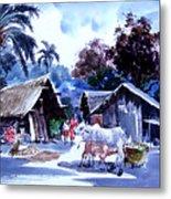 Watar Color Village Metal Print