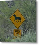 Watch For Horses Metal Print
