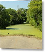 Watch For Water On Road Metal Print