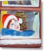 Watching For Santa Metal Print