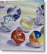 Watching Over My Marbles Metal Print
