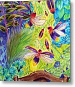 Watching The Bug Byway By Way Of Back Porch Metal Print