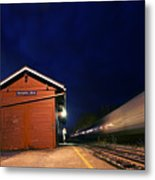 Watching The Night Train - Montpelier Junction Vermont Metal Print
