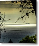 Watching The Ships Go By Metal Print