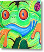 Watching You Red Eyed Tree Frog Metal Print by Nick Gustafson