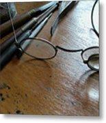 Watchmakers Glasses Metal Print
