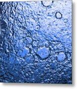 Water Abstraction - Blue Rain Metal Print