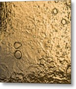 Water Abstraction - Liquid Gold Metal Print