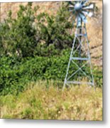 Water Aerating Windmill For Ponds And Lakes Metal Print
