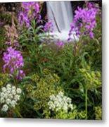 Water And Flowers Metal Print