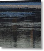 Water And The Ice - Icy River Danube Metal Print