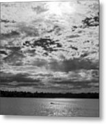 Water And Sky - Bw Metal Print