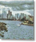 Water And Skyline Metal Print
