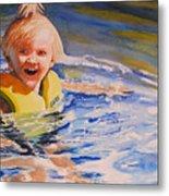 Water Baby Metal Print