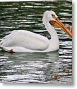 Water Bird With Notches Metal Print