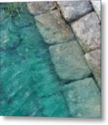 Water Blocks Metal Print