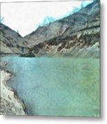 Water Body In The Himalayas Metal Print