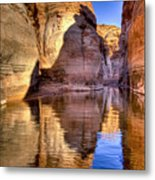 Water Canyon Metal Print