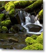 Water Cascade Metal Print