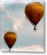 Water Color Balloons Metal Print