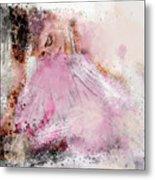Water Colour Ballerina Metal Print