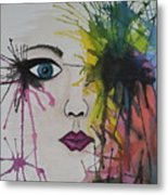 Water Colour - Face Metal Print